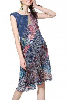 Desigual barevné šaty Vest Rasha - XS