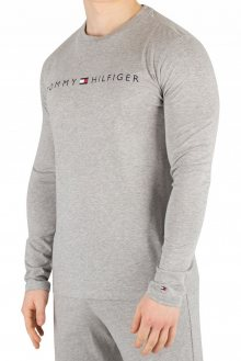Tommy Hilfiger šedé pánské tričko CN LS Tee Logo - M