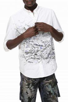 Desigual bílá pánská košile Cam Storn - M
