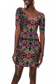 Desigual barevné šaty Vest Garden - M