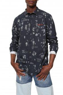 Desigual černá pánská košile Cam Ehud - M