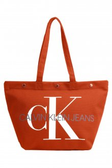 Calvin Klein oranžová taška Bottom Tote Monogram Orangeade