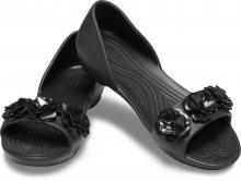 Crocs černé sandály Lina Flower Dorsay Black - W6