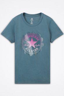 Converse modré tričko Ombre Chuck Patch s logem - XS