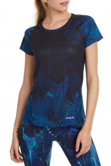 Desigual modré sportovní tričko Tee Tech Bio Patching - L