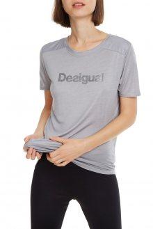 Desigual šedé sportovní tričko Essentials Tee s logem - S