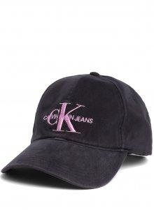 Calvin Klein černá kšiltovka Monogram Cap Black Beauty/Pink Embr