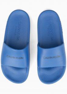 Calvin Klein modré plastové pantofle Slides - 31