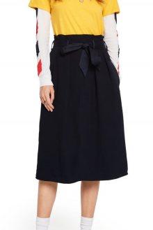 Scotch & Soda tmavě modrá sukně s vysokým pasem - XS