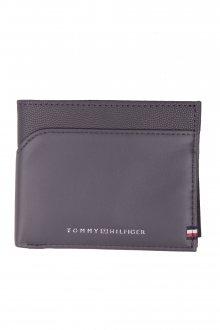 Tommy Hilfiger šedá pánská kožená peněženka BI-Material Mini CC Wallet Smoked Pearl