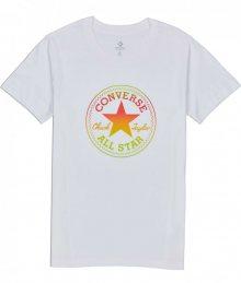 Converse bílé tričko Ombre Crewneck s logem - XS