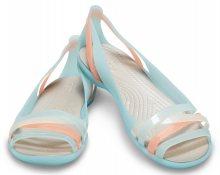 Crocs tyrkysové sandály Isabella Huarache 2 Flat Ice Blue/Platinum - 36/37
