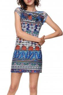 Desigual barevné šaty Vest Fiona - S