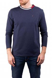 Tommy Hilfiger tmavě modré pánské tričko CN LS Tee - M