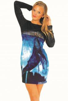 Culito from Spain modré šaty Barco & Ballena - XL
