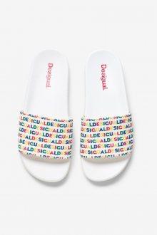 Desigual bílé pantofle Shoes Slide Logomania - 36