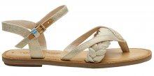 TOMS Dámské sandále Natural Shimmer Canvas Lexie 36
