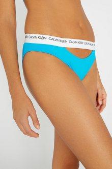 Calvin Klein modrý spodní díl plavek Classic Bikini Maldive Blue s průstřihem - XS