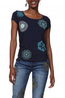 Desigual modré tričko TS Sonja - XS