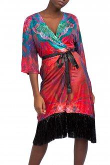 Culito from Spain červené kimonové šaty Jody Williams - Rojo - S