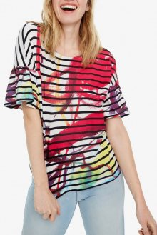 Desigual barevné tričko TS Nottingham - S