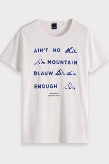 Scotch & Soda smetanové pánské tričko Ain´t no Mountains - S
