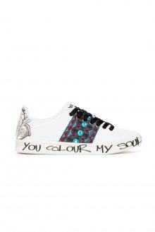 Desigual bílé tenisky Shoes Cosmic Exotic Tropical - 36