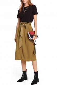 Scotch & Soda olivová sukně s vysokým pasem - S