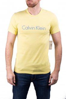 Calvin Klein žluté pánské tričko S/S Crew Neck - S