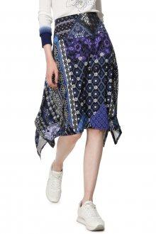 Desigual modrá sukně Fal Katherine - M