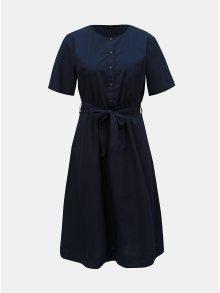 Tmavě modré šaty s páskem VERO MODA Kammi