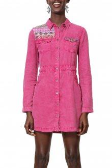 Desigual růžové košilové šaty Vest Zagori - 34