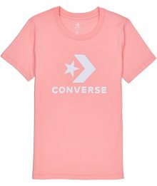 Converse lososové tričko Star Chevron Core s bílým logem - XS