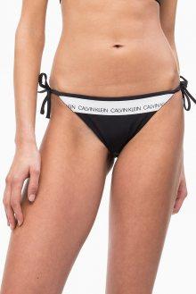Calvin Klein černý spodní díl plavek String Side Tie Bikini PVH Black - XS