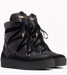 Tommy Hilfiger černé kožené boty Cozy Warmlined Leath - 42