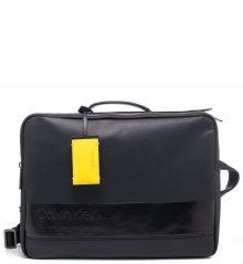 Calvin Klein černá taška na notebook/batoh Elevated Mix Briefca