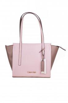 Calvin Klein pudrová kabelka Frame Med Shopper CB