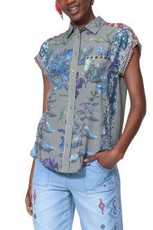 Desigual barevná košile Cam Naiara - XS
