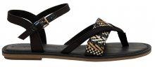 TOMS Dámské sandále Black Canvas/Geometric Woven Lexie 36