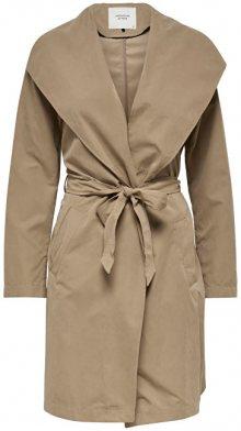 Jacqueline de Yong Dámský kabát Ida Drapy Jacket Otw Glo Almondine S