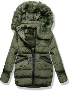 Khaki zimní bunda 3570B