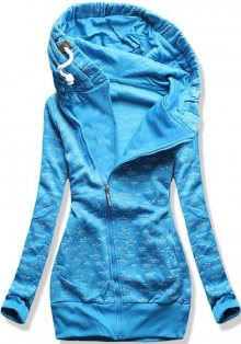 Modrá mikina na zip D326-A