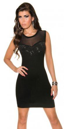 Koucla Černé dámské mini šaty