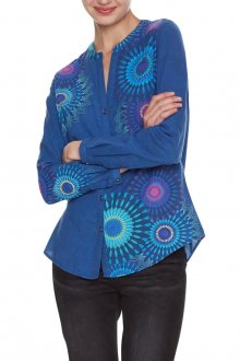 Desigual modrá košile Cam Coraline - S