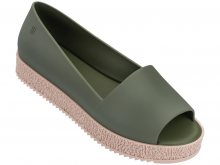 Melissa khaki boty na platformě Puzzle Green/Verde - 35/36