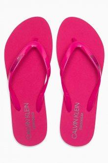 Calvin Klein růžové žabky FF Sandal Beetroot Purple - 35/36