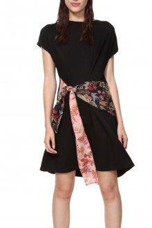 Desigual černé šaty Vest Onawa - S