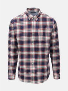 Červeno-modrá kostkovaná košile Jack & Jones Carrick