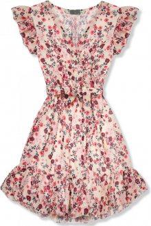 Béžové šaty s květinovým potiskem