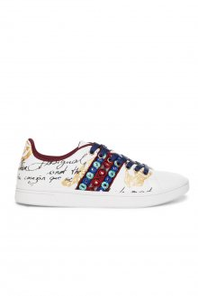 Desigual bílé tenisky Shoes Cosmic Exotic Letterging - 39